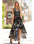 Feather Lace-up Maxi Dress Photo