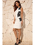 Floral Applique Sheath Dress Photo