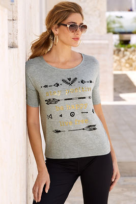 Gold foil graphic tee