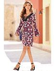 Paisley Lace-up Dress Photo