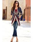 Stripe Wrap Sweater Coat Photo