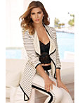 Striped Draped Cardigan Photo