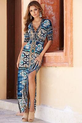 Tribal Aztec maxi dress