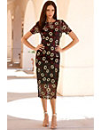 Embroidered Floral Dress Photo