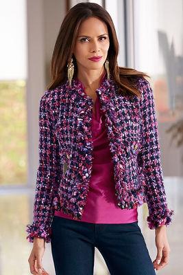Purple tweed jacket