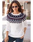Embellished Fair Isle Sweater Photo