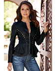 Faux Leather Lace-up Jacket Photo