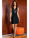 Faux Leather Fit-and-flare Dress Photo