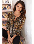 Leopard Ribbed Cardigan Photo