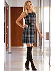 Tweed Fit-and-flare Dress Photo