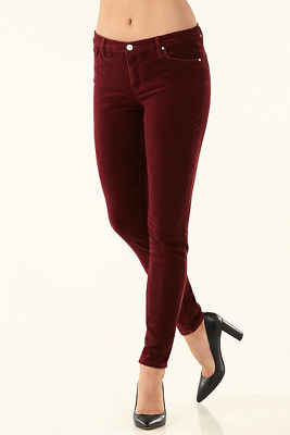 Velvet five-pocket legging