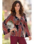 Black Paisley Tunic Top Photo
