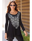 Graphic Embellished Tunic Top Photo
