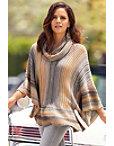 Multi Ombre Poncho Sweater Photo