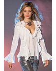 Double Ruffle Front Blouse Photo
