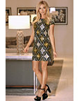 Cap Sleeve Sequin Dress Photo