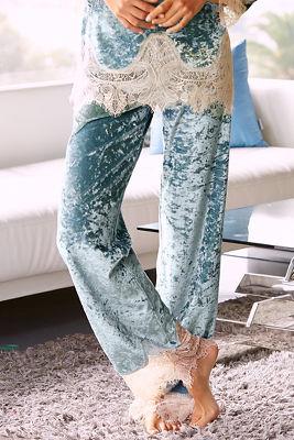 Velvet lace pant
