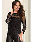 Illusion Inset Lace Blouse Photo
