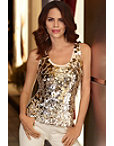 Gold Paillete Tank Top Photo