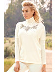 Beaded Turtleneck Top Photo