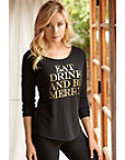 Eat, Drink, Be Merry Tee Photo