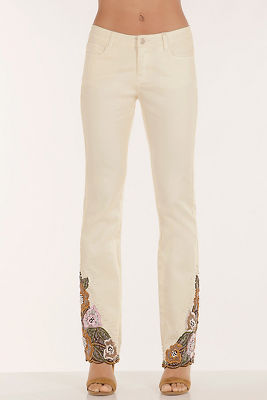 Embroidered and embellished jean