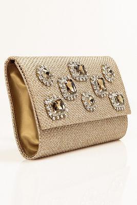 Champagne jewel clutch