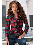 Plaid Ruffle Shirt I Photo