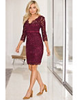 Lace Double-v Sheath Dress Photo