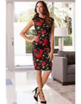 Rose Floral Sheath Dress Photo