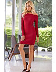 Off-the-shoulder Sweater Dress Photo