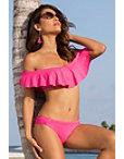 Ruffle Off-the-shoulder Bikini Photo