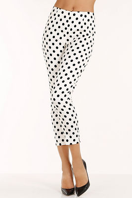 Bias dot side zip pant