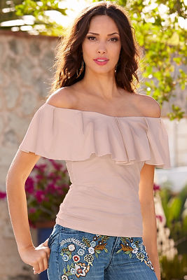 So Sexy™ ruffle off-the-shoulder blouse