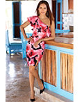 Floral One Shoulder Sheath Dress Photo