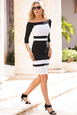 Colorblock travel sheath dress