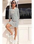 Stripe Grommet Dress Photo