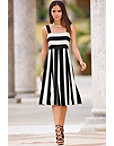 Wide Stripe Midi Dress Photo