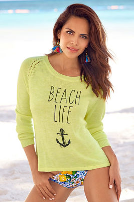 Beach life anchor sweater
