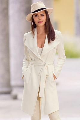 Drapey long coat