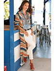 Textured Striped Duster Photo