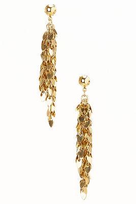 Gold leaf dangling earrings
