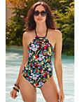 Amor Atitlan Lace-up One-piece Swimsuit Photo