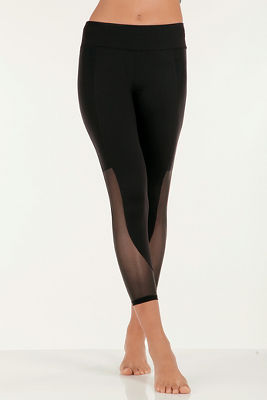 Mesh crop legging