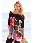 Tropical Blocked Floral Sweater Photo