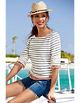 Striped Textured Top Photo