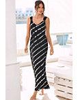 Stripe Tie-dye Maxi Dress Photo