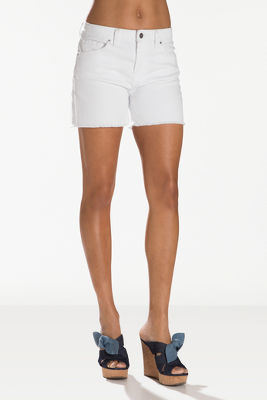 frayed hem denim short i