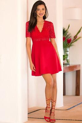 Deep v lace dress 2366310600
