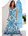 Blue Tile Maxi Dress Photo